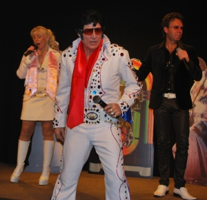 Elvis 2000, Cliff-AsIf and Fiona McLean-Day during a recent UK show