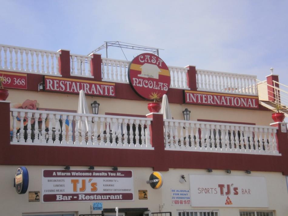 Casa Nicolas Restaurant, Altos del Limonar (near the BMW garage)