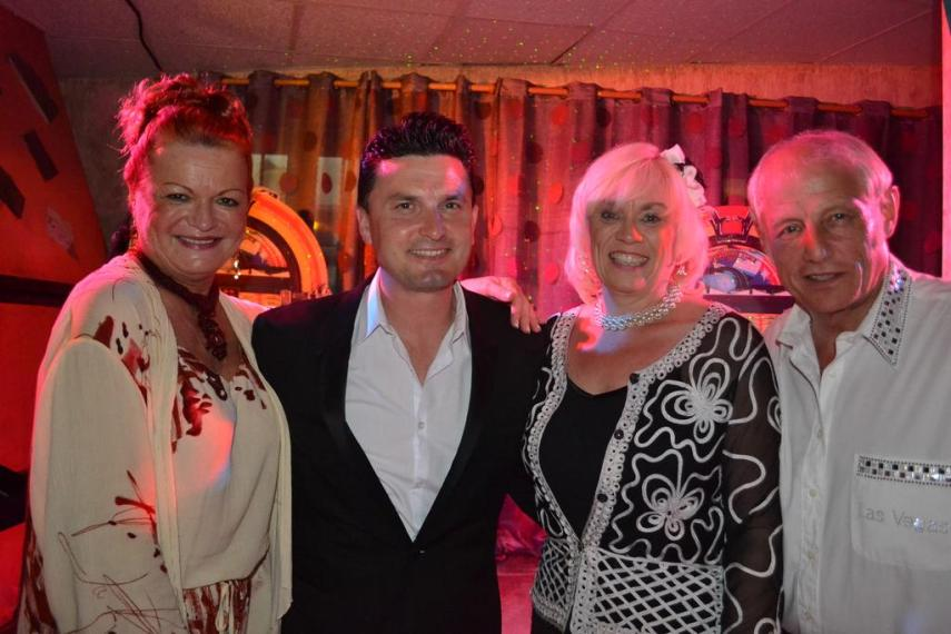 Patti Ross, Darren Jones, Fiona McLean and Peter Day together during the 2013 tour in Spain